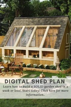 The Ultimate Collection of Outdoor Shed Plans and Designs - Woodworking Projects Patterns. Diy Storage Shed Plans, Diy Shed, Backyard Sheds, Outdoor Sheds, Build Your Own Shed, Tool Sheds, Building A Shed, Woodworking Projects, Ultimate Collection
