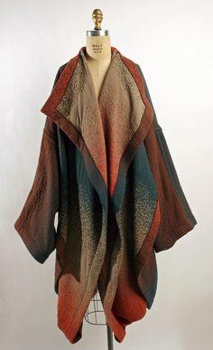 Coat Hiroko Koshino (Japanese) ca. 1983 wool, synthetic blend