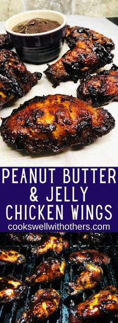 Chicken Wing Flavors, Chicken Wing Sauces, Chicken Wing Recipes, Chicken Wings, Sauce Recipes, Crockpot Recipes, Finger Food Appetizers, Finger Foods, Peanut Butter Chicken