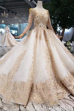 New Arrival Prom Dresses Long Sleeves Ball Gown Scoop With Applique Beads Lace Up Back Champagne Prom Dresses, Ball Gown Prom Dresses, Prom Dress, Prom Dresses Lace, Prom Dresses With Sleeves Prom Dresses 2020 Tulle Ball Gown, Ball Gowns Prom, Ball Dresses, Evening Dresses, Dresses Dresses, Elegant Dresses, Dresses Online, Vintage Dresses, Formal Dresses
