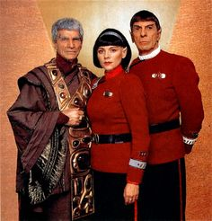 Valeris is not a Vulcan name and she acted more like a Romulan than a Vulcan. I think this was the Star Trek 6 Movie - Undiscovered Country...