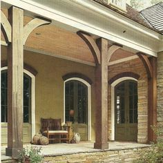 Southern front porch Porch posts covered with faux wood beams    Robbins Ct   Pinterest  . Front Porch Columns Images. Home Design Ideas