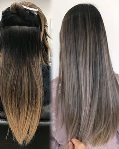 Long Wavy Ash-Brown Balayage - 20 Light Brown Hair Color Ideas for Your New Look - The Trending Hairstyle Ombre Hair Long Bob, Brown Ombre Hair, Ombre Hair Color, Light Brown Hair, Hair Color Balayage, Brown Hair Colors, Hair Highlights, Ashy Brown Hair Balayage, Ash Brown Hair With Highlights