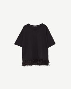 Image 8 of T-SHIRT WITH FEATHER DETAIL from Zara