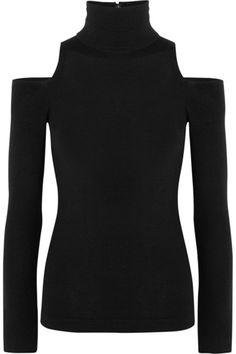 Donna Karan New York | Cutout cashmere-blend turtleneck sweater | NET-A-PORTER.COM