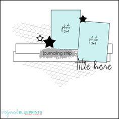 Inspired Blueprints | Sketch 87 #inspiredblueprints #scrapbooking #sketch
