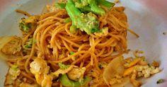 Resep Spageti with egg and brokoli favorit. Dpt ide sarapan kilat buat anak2. Ueankkk