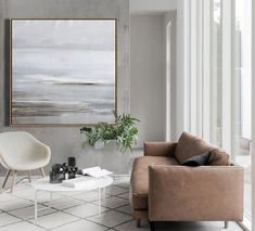 Hand-painted large abstract landscape oil painting on canvas. Abstract Landscape Painting, Interior Decorating, Interior Design, Living Room With Fireplace, Art Design, Eclectic Decor, Living Room Designs, Living Rooms, Interior Architecture