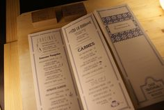 A division of UnderConsideration, cataloguing the underrated creativity of menus from around the world. The Menu, Menu Design, Design Firms, Mood Boards, Vintage Designs, How To Memorize Things, Graphic Design, Personalized Items, Creative
