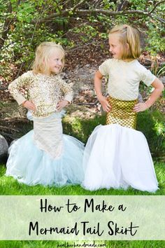 This mermaid tail skirt is so cute for little girls! Heather from Heather Handmade has a great tutorial showing how you can make one. Who wouldn't love pretending to be a mermaid in one of … Sewing Blogs, Sewing Tutorials, Sewing Ideas, Sewing Projects, Craft Projects, Sewing Patterns Free, Free Sewing, Dress Patterns, Mermaid Tail Skirt