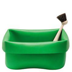 Washing Up Bowl & Brush Green