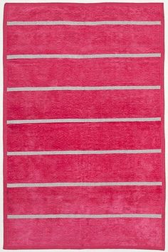 Hot Pink Pinstripe Chenille Metallic Carpet at the Madeline Weinrib NYC Sample Sale 2012 - October 24th through 28th, at 881 Broadway, Lower Level.