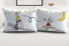 "StellaMia ""Picking the Stars for You"" Pillowcase Set for Couples"
