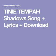 TINIE TEMPAH Shadows Song + Lyrics + Download