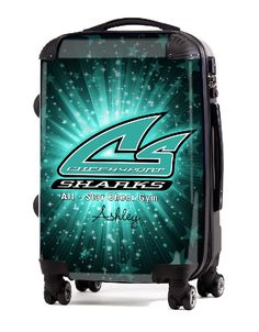 "Custom Cheer Luggage - Cheer Sport Sharks 20"" Carry-on Luggage, $149.95 (http://www.cheerluggage.com/cheer-sport-sharks-20-carry-on-luggage/)"