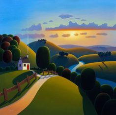 Sunshine Valley, 24x24 oil, Paul Corfield