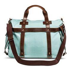 Women's Canvas Weekender Handbag - Blue