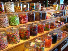 Day 121 – Jars of sweets. Old Fashioned Sweet Shop, Old Fashioned Sweets, Jars Of Sweets, Sweet Peanuts, Sweet Trees, Candy Store, Candy Buffet, Confectionery, Healthy Life