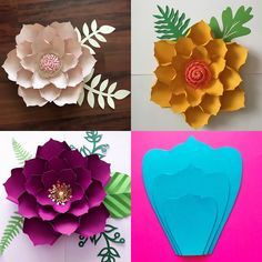 Coopay 120 Pieces Felt Flowers Fabric Flower Embellishments Assorted Colors for DIY Crafts - The Crafts Guide Big Paper Flowers, How To Make Paper Flowers, Paper Flower Backdrop, Giant Paper Flowers, Paper Roses, Felt Flowers, Diy Flowers, Fabric Flowers, Art Craft Store