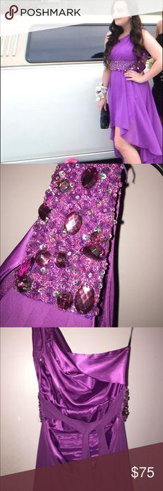 Water fall prom dress Purple waterfall prom dress! Dresses High Low
