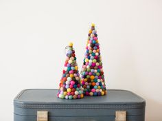 Feltball happy tree Original modern Christmas tree by HoneyCanada