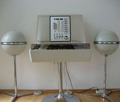 My Rosita. This is my Rosita and pair of Grundig audiorama Design for Rosita Tonmobel, Philips, Germany The stereo hav. Lp Regal, Radio Record Player, Record Players, Arch Interior, Orange Interior, Eames, Radios, Old Technology, Audio Room