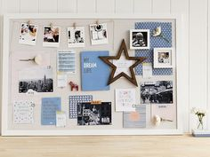 Host a vision board party with friends. Here's a vision board from stationery supremos kikki-k.