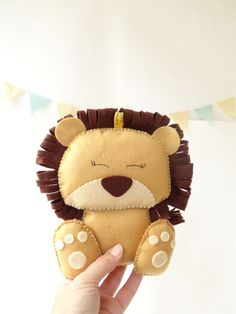 Lion Stuffed Toy Felt Lion decor Nursery decor by LaPetiteMelina, $25.00