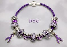 Gorgeous epilepsy awareness charm bracelet.