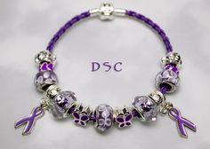 Gorgeous epilepsy awareness charm bracelet.