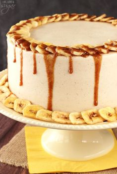 Bananas Foster Layer Cake by @lifelovesugar