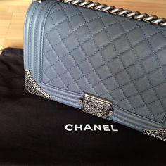 Chanel Boy Flap Bag with Metal Edges
