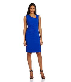 ae7e98dd378 Calvin Klein SideRuched Sheath Dress  Dillards Dillards