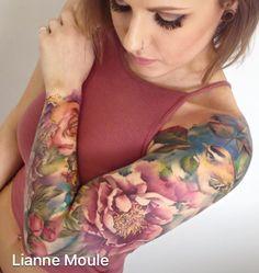 Lianne Moule UK flower sleeve