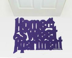 Handmade doormat Home sweet Apartment with a little by Xatara $45.00