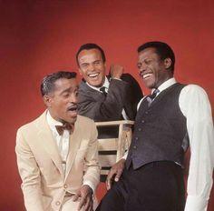 Sammy Davis, Jr., Sidney Poitier, and Harry Bellefonte