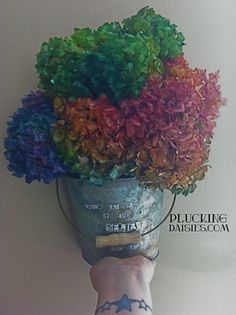 Ideas for Dylusions, spray on Dried Flowers   @PluckingDaisy #dylusions #rangerink #flowers
