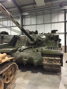 "The only surviving example of the Tortoise super-heavy tank, preserved at the Tank Museum at Bovington. Although technically an assault gun, it was designated ""tank, heavy assault."" Six prototypes were produced. One further hull, without gun, remains, but has been deemed ""unrecoverable."""