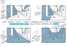 Manga Drawing Techniques Tips for Drawing Backgrounds - Thomas Romain is a terrific artist working in the anime industry in Tokyo. Previously, he showed how to draw detailed buildings. This time, we're going to learn from him how to draw backgrounds. Digital Art Tutorial, Digital Painting Tutorials, Art Tutorials, Drawing Tutorials, Drawing Techniques, Drawing Tips, Drawing Reference, Learn Drawing, Perspective Drawing Lessons