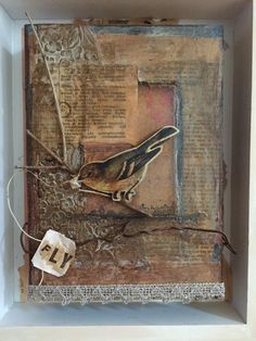 Weathered collage/assemblage by Amy Willcut