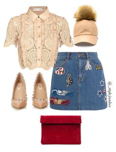 """""""Untitled #80"""" by plainejxne on Polyvore featuring self-portrait, Marc Jacobs and Valentino"""