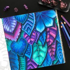 Colouring book: #magicaljungle by #johannabasford Pencils: #polychromos #fabercastell #magicaljunglecoloringbook #adultcoloring #colouringbook #coloringbooks #colouringbookforadults #adultcolouring