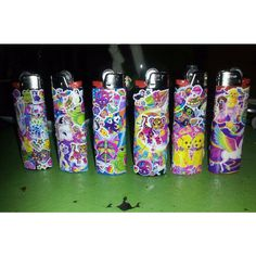 Lisa Frank lighter - 90's Vintage style - new bic lighter ($9) ❤ liked on Polyvore