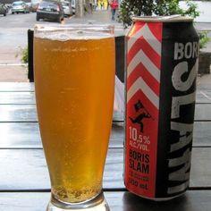 Cerveja Boris Slam, estilo Malt Liquor, produzida por Brasserie Licorne de Saverne, França. 10.5% ABV de álcool.