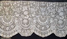 Brussels Lace Deep Flounce, 1850-188o, Augusta Auctions, April 17, 2013 - NYC, Lot 72