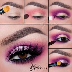 Pretty pink makeup looks - decoration house Hübsche rosa Make-up-Looks – Dekoration Haus Diy Pretty pink makeup looks - Pink Eyeshadow Look, Purple Eye Makeup, Colorful Eye Makeup, Natural Eye Makeup, Eye Makeup Tips, Smokey Eye Makeup, Makeup Eyeshadow, Beauty Makeup, Eyeshadow Palette