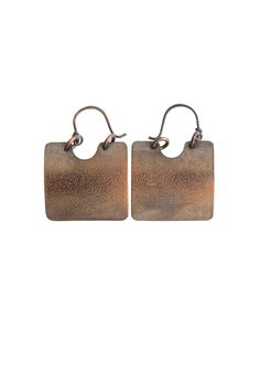 "Copper earrings that will match any of your favorite outfits.  Measurements: 1"" W 1 1/2"" L (bottom to ear wire)  Earrings by Lococina. Accessories - Jewelry - Earrings Canada"