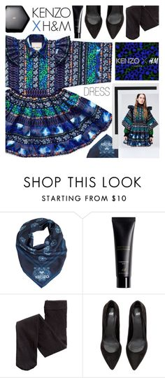 """""""KENZO X H&M dress"""" by pastelneon ❤ liked on Polyvore featuring Kenzo, H&M, Polaroid, kenzo, dress and HM"""