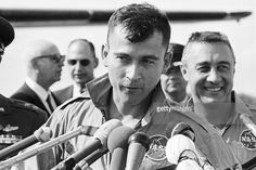 Mission Gemini 3 Return And Press Conference. Vintage Mens Haircuts, Gus Grissom, Space Astronauts, Project Gemini, American Space, Johnson Space Center, Lawrence County, Nasa History, Risky Business