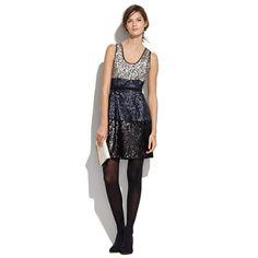 color blocked sequin dress
